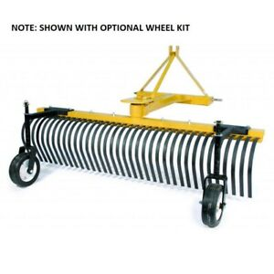 New Tarter Farm Ranch 3 point 5 Landscape Rake Yellow