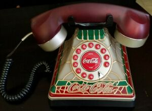 Authentic Vintage Coca-Cola Light Up telephone Fully Working