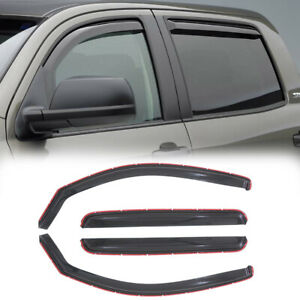 4x For 2005 15 Toyota Tacoma Double Cab Sun Rain Guard Vent Shade Window Visors