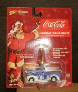 WHITE LIGHTNING COCA COLA 1940 FORD PICKUP TRUCK HOLIDAY ORNAMENTS