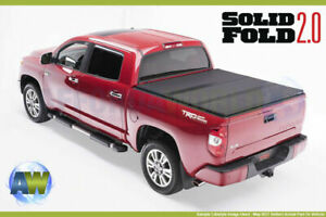 Trifold Tonneau Cover Solid Fold 2 0 For 14 20 Tundra 5 6 Bed With Oem Track