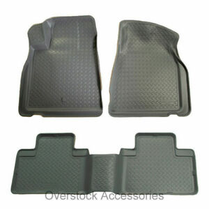 Husky Liners Classic Style Floor Mats Grey For 2001 04 Toyota Tacoma Double Cab