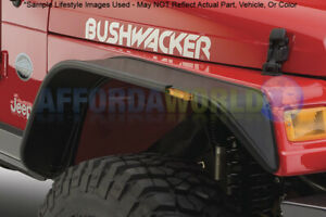 Flat Style Fender 2pc Front Flares Oe Matte Black For 1987 95 Jeep Wrangler