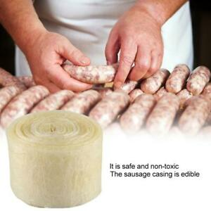 Natural Sausage Casing Skins Collagen Casings For Smoked Fresh Hot Dog 8mx50mm