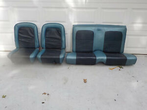 65 66 67 Mustang Blue Bucket Seats 1965 1966 1967