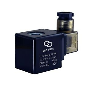 Wic Valve 2w Series 110v Ac Electric Solenoid Valve Coil Din Connector Led