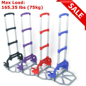 170lbs Cart Folding Dolly Collapsible Trolley Push Hand Truck Moving Warehouse A