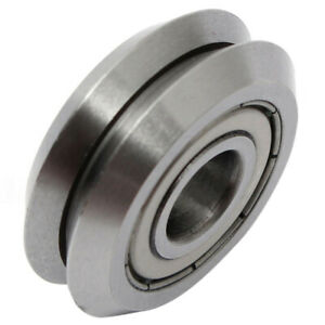 W1 Deep V Groove W rail Guide Line Track Pulley Rollers Ball Bearings Steel O4g7