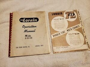 Big Thew Lorain Mc254 Crane Operation Owners Manual Service With Sales Brochure