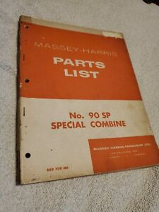 Massey Ferguson 90sp 90 Special Combine Parts Book 650709m6 Free Ship In Usa