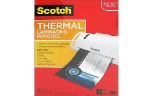 Scotch Thermal Laminating Pouch 8 5x11 50pc