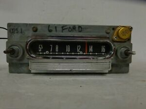 1960 1963 Ford Falcon Am Radio Push Button Motorola 04md Fomoco Galaxie Fairlane