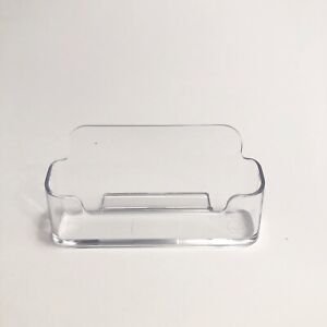 20 Business Card Display Holder Clear Acrylic Plastic