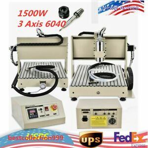 1500w 3 Axis 6040 Cnc Router Vfd Engraver Woodworking Carving Ball Screws Top