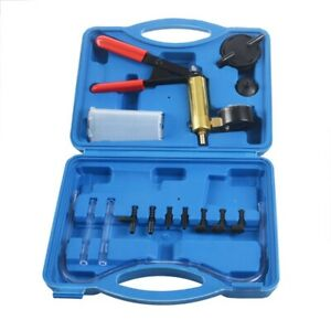 2 In 1 Brake Bleeder Kit Hand Held Vacuum Pump Test Set For Automotive With F3h8