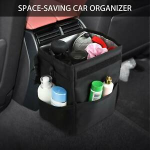 Car Trash Bin Storage Basket Waste Basket Can Litter Leakproof Bag Organizers