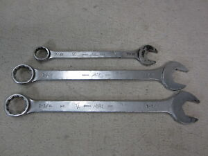 Lot Of 3 Mac Tools 12 Pt Combination Wrench Cw40 Cw38 Cw28