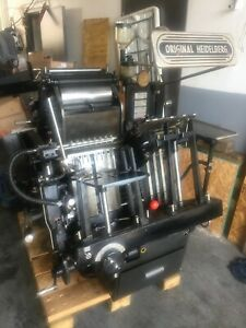 Heidelberg Windmill 10x15 Late Model With Lockout Rollers Complete