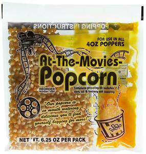 24 pack Of At the movies Popcorn Packs Movie Butter Coconut Oil Pop Corn Salt