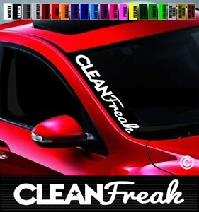 20 Clean Freak Windshield Banner Car Decal Sticker Jdm Simply Illest Import