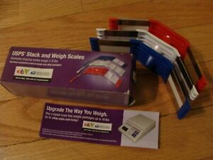 Usps Stack And Weigh Stackable Shipping Scales 1 6 Lbs Red White Blue New