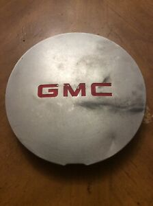 95 01 Gmc Jimmy Sonoma Oe Machined Center Cap Red Logo 15661131 15724975