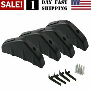 Us 4pcs Universal Car Rear Bumper Lip Diffuser Shark Fins Splitter Accessories