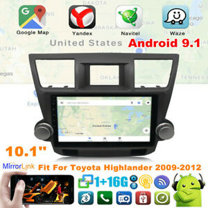 Fit For Toyota Highlander 2009 2012 Car Radio Player 10 1 Android 9 1 Gps Navi