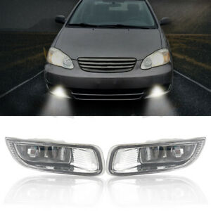 Front Driving Lamps Fog Lights Lamps W Clear Lens For Toyota Corolla 2003 2004