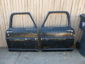 1967 67 Ford Truck F100 F250 F350 Ranger Custom Cab Door Doors Pair