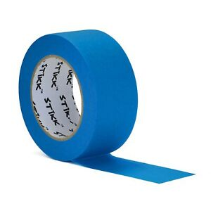 2 Inch X 60yd Stikk Sky Blue Painters Tape 14 Day Easy Removal Edge Finishing