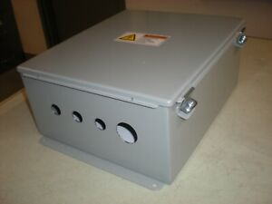 Hoffman Cat No A1412ch Enclosure With Backing Plate 1