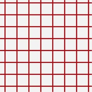 Heat Transfer Paper Red Grid Iron On Light Cotton Shirts 100 Sheets 8 5 X 11