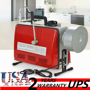 3 4 6 110v Pipe Drain Cleaner Electric Spiral Drain Cleaning Machine Sewer
