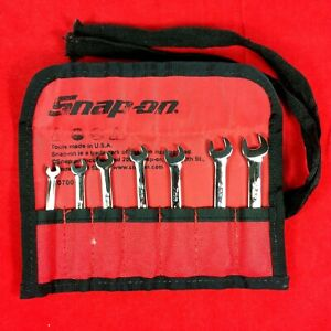 Near Mint Snap On 4mm 9mm Metric Midget Combination Ignition Wrench Set Oxim707