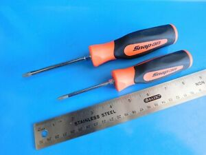 New Snap On Tools 1 2 Phillips orange Soft Grip Screwdrivers Lot Of 2