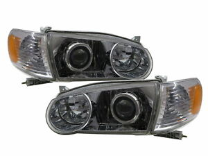 Corolla E110 Mk8 01 02 Facelift 4d Projector Headlight Chrome Us For Toyota Lhd