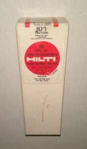 New Box 100 Hilti 27 cal Safety Boosters Dx 350 Dx 451 3 220 M red 1 350220