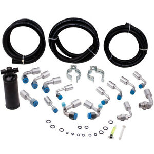 Universal 134a Air Conditioning Hose Kit O ring Fittings Drier Ac Hose Assembly