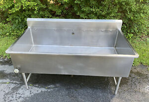 Large 68 5 Single Compartment Vat Sink Stainless Steel Soak Wash Tub