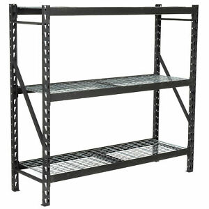 Heavy Duty Storage Rack With Wire Decking Black 77 w X 24 d X 72 h