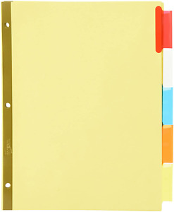 Avery r Worksaver r Insertable Big Tab Recycled Dividers 5 t