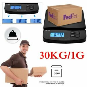 30kg 1g Fedex Digital Postal Shipping Scale Weight Postage Counting 2x Battery
