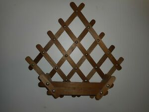 Vintage Wooden Lattice Wall Hanging W Box Display Flowers 15 Wide X 14 3 4