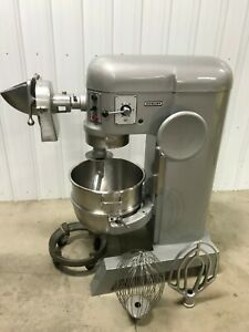 Hobart H 600t 60 Qt Mixer W pelican Head Ss Bowl Hook Whip Paddle 115v 1 Ph