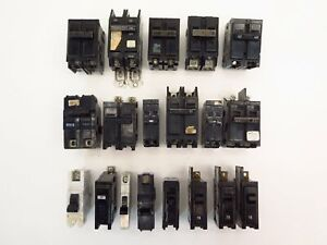 Siemens Ite Federal Pioneer Ge Circuit Breaker 15a To 145a Lot Of 14 Breakers Se