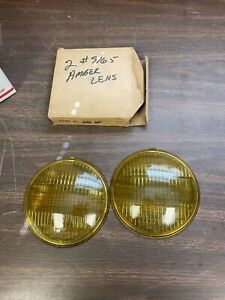Unity 9165 Amber Fog Driving Light Lamp Lenses 5 7 8 Pair Nos 920