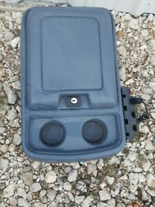 80 91 Ford Truck Center Console Without Key F150 F250 Bronco Gray Bluish Color