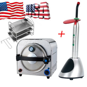 Usa Dental Autoclave Steam Sterilizer Medical Sterilizition 14l led Light Curing