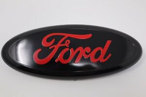 Black Red 2005 2014 Ford F150 Front Grille Tailgate 9 Inch Oval Emblem 1pcs